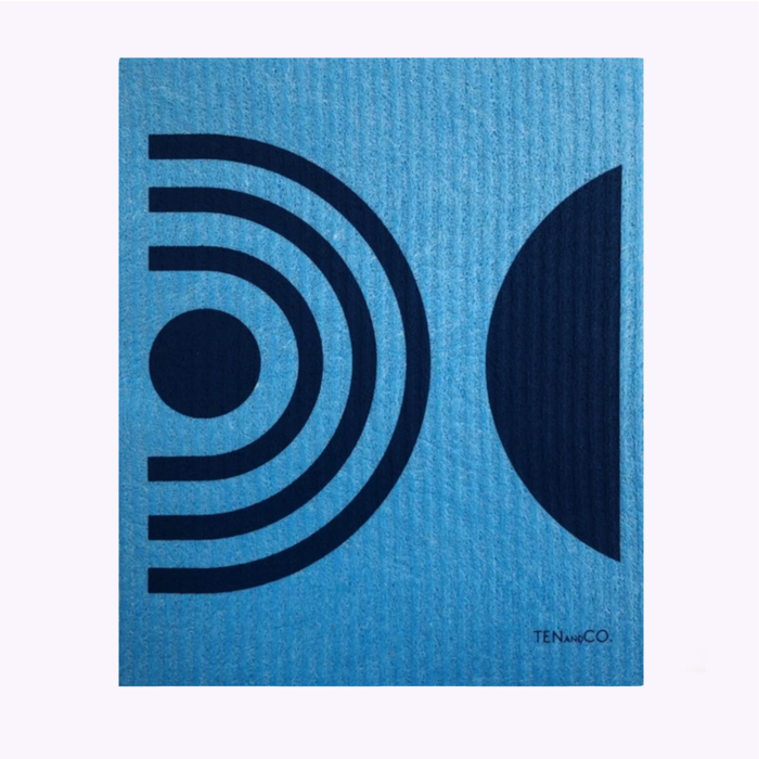 Ten & Co Ten & Co Blue Arches Sponge Cloth