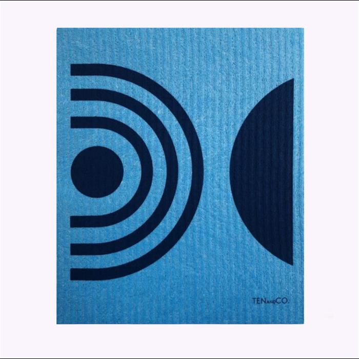 Ten & Co Blue Arches Sponge Cloth