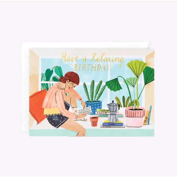 Carte d'anniversaire Wrap Relaxing Birthday