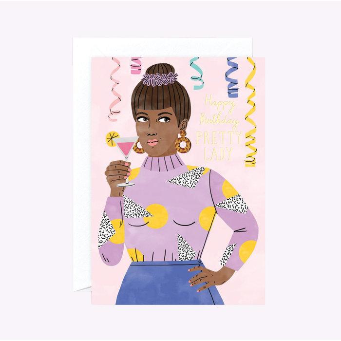 Wrap Pretty Lady Birthday Card