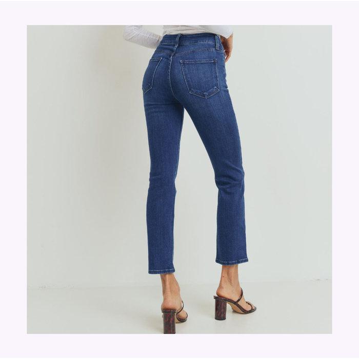 JBD Dark Denim Double Button Straight Jeans