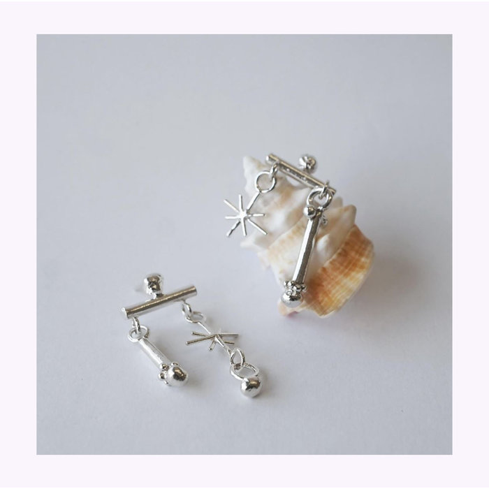 Marmod8 Silver Rattle Earrings