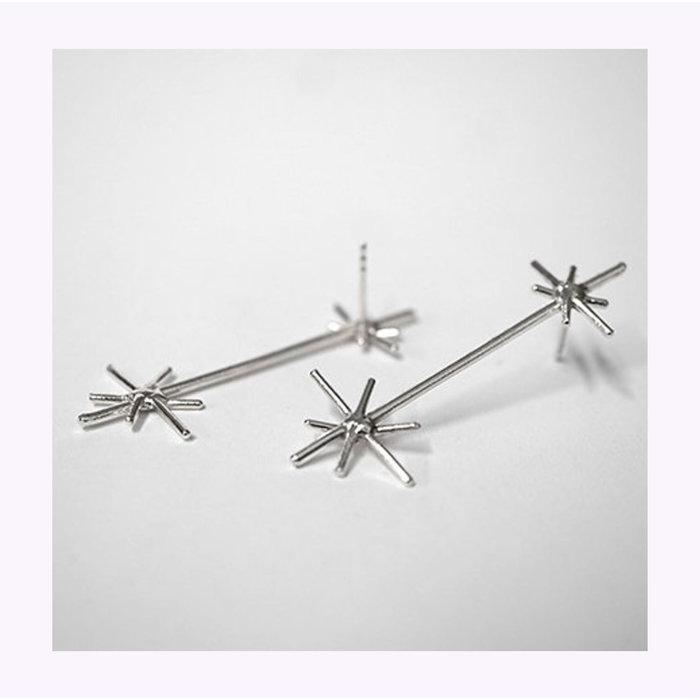 Boucles d'oreilles Double Stars Argent  Marmod8