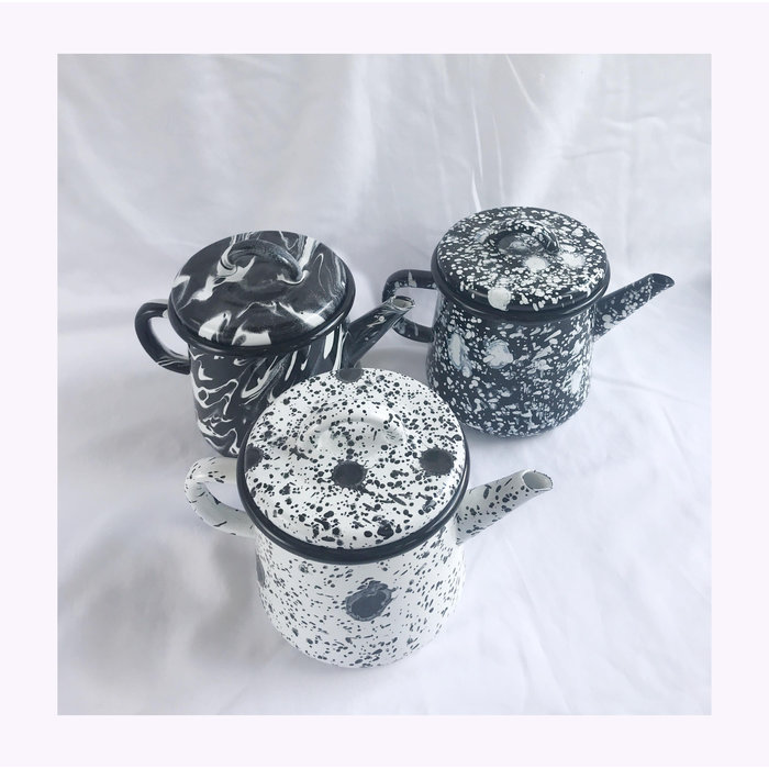 Bornn Spotted Enamel Teapot