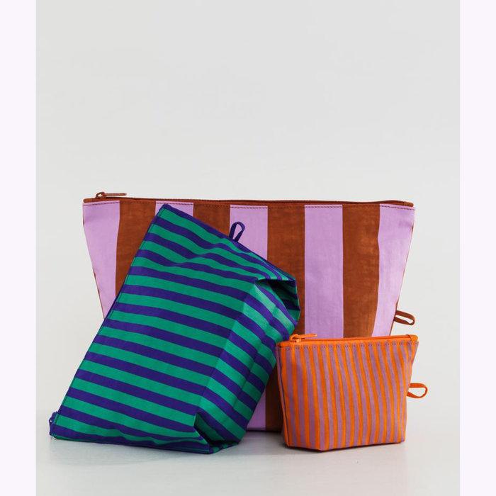 Baggu pochette Baggu Piazza Pouch L (Brick & Pink)