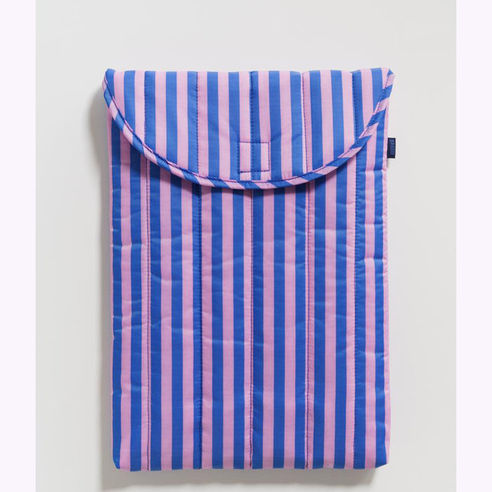 "Baggu pochette Baggu Pink & Blue Stripes Puffy Laptop Sleeve 16"""