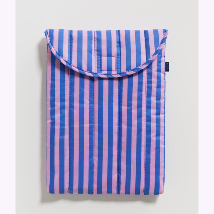 "Baggu pochette Baggu Pink & Blue Stripes Puffy Laptop Sleeve 13"""