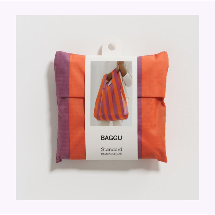 Baggu Orange & Purple Stripes Reusable Bag