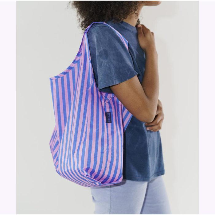Baggu Pink & Blue Stripes Reusable Bag