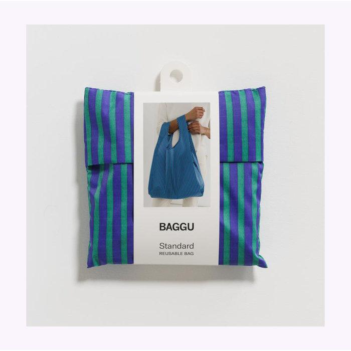 Sac réutilisable Baggu Rayures Cobalt et Jade