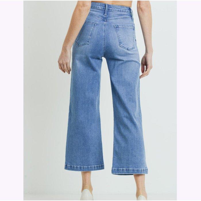 JBD Blue Denim Wide Leg Jeans