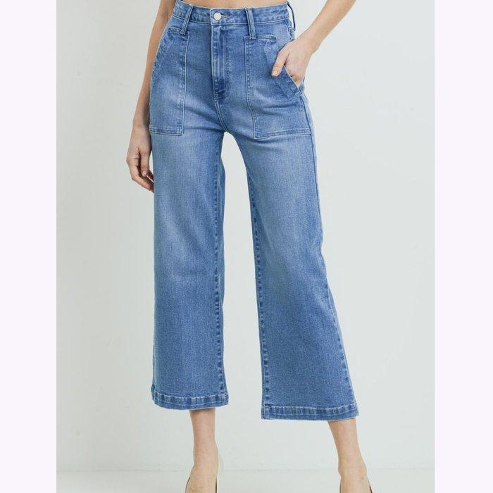Just Black Denim JBD Blue Denim Wide Leg Jeans