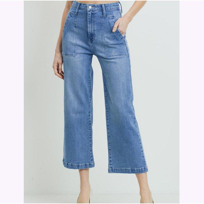 Jeans Jambe Large Denim Bleu JBD