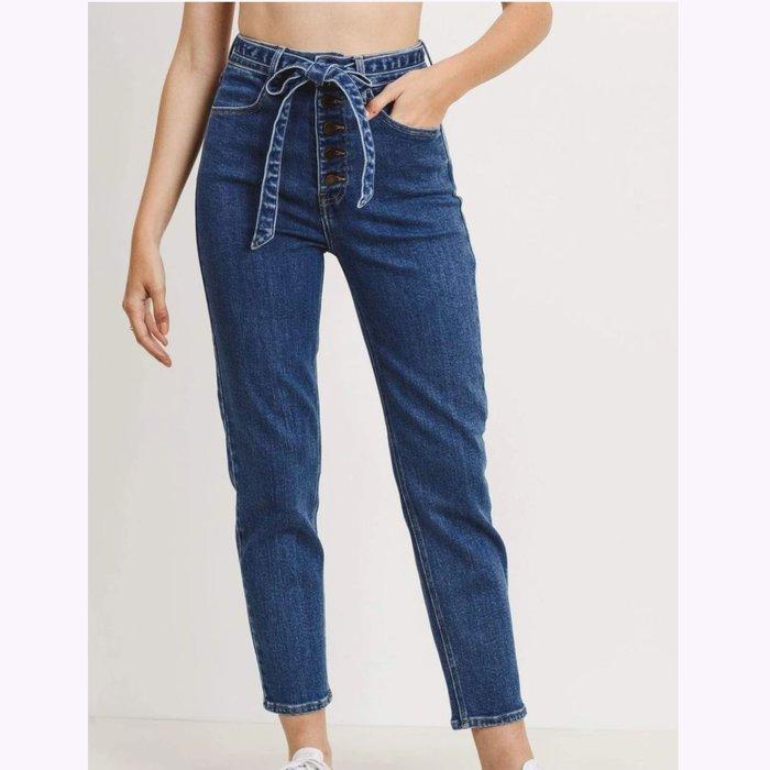 Just Black Denim JBD Button Down Mom Jeans