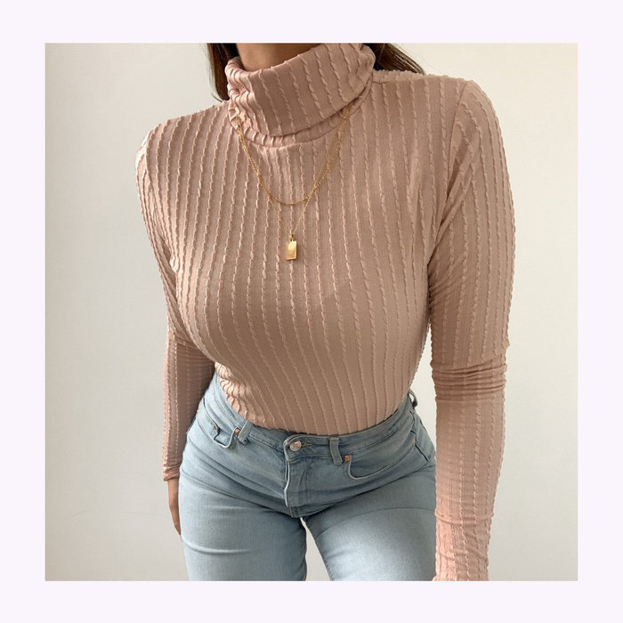 Dailystory Dailystory Blush Chloe Turtleneck