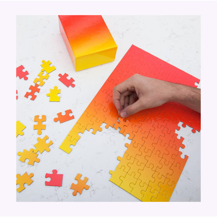 Areaware Gradient Puzzle Red/Yellow