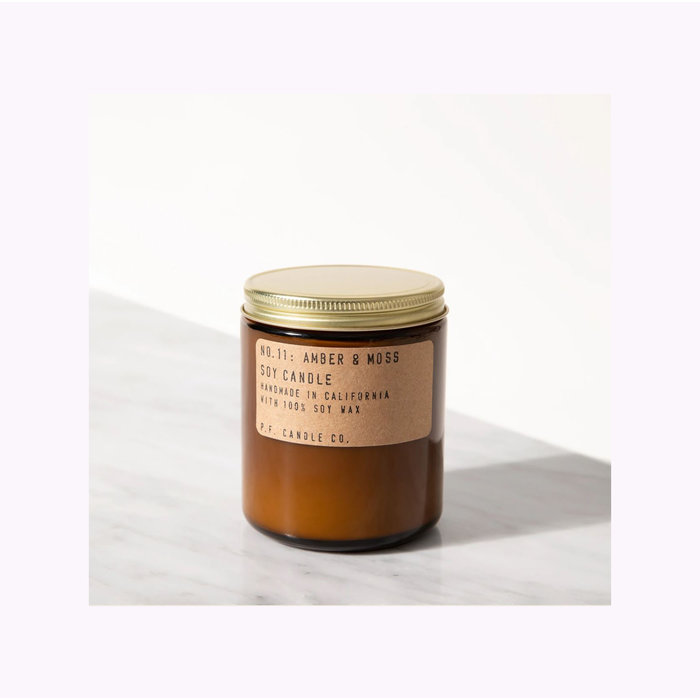 Bougie Pf Candle Co. Amber & Moss Standard
