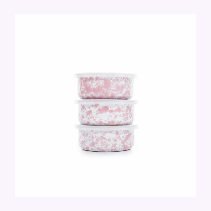 Crow Canyon Crow Canyon Pink Splatter Storage Bowl