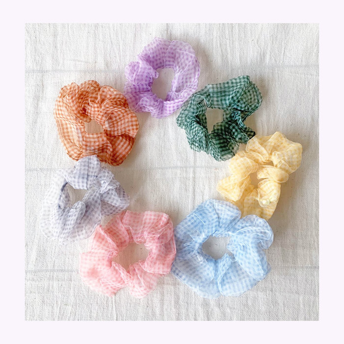 Rainbow Unicorn Rainbow Unicorn Zoe Chiffon Scrunchie