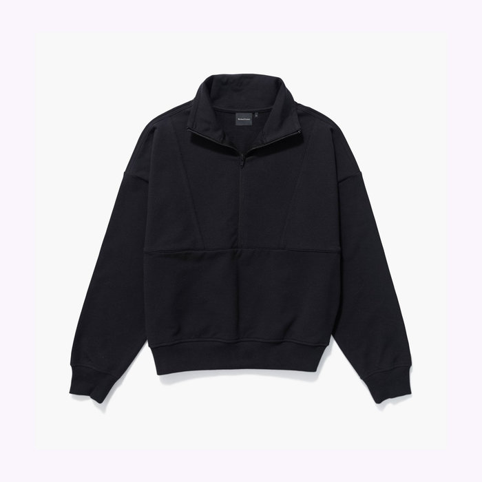 Richer Poorer Richer Poorer Half Zip Fleece Black Sweater