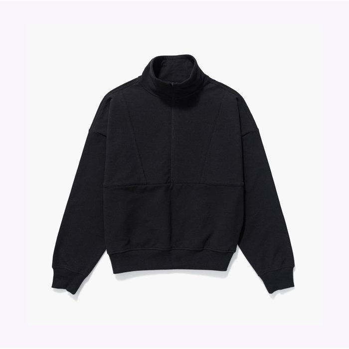 Richer Poorer Half Zip Fleece Black Sweater