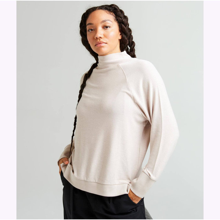 Richer Poorer Long Sleeve Cream Knitted Sweater