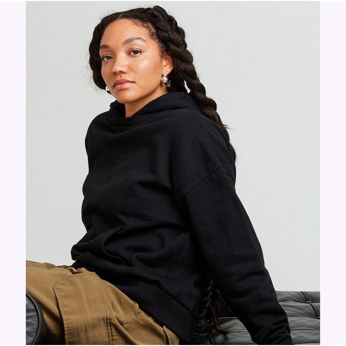 Richer Poorer Recycled Flannel Black Hoodie