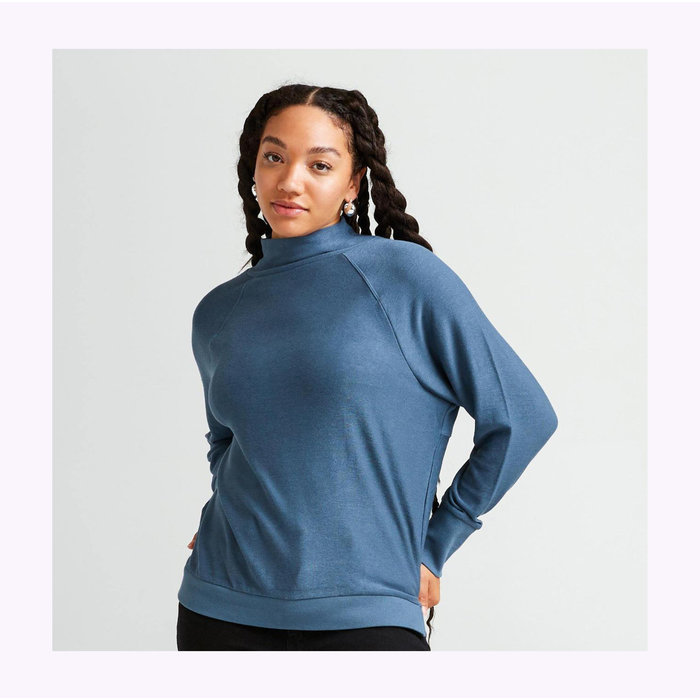 Richer Poorer Long Sleeve Blue Knitted Sweater