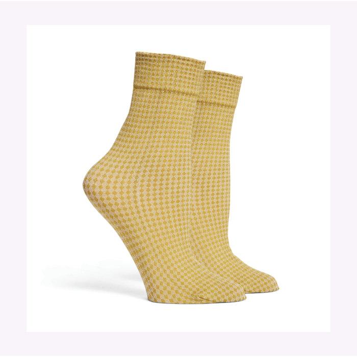 Richer Poorer Golden Verde Quilted Socks