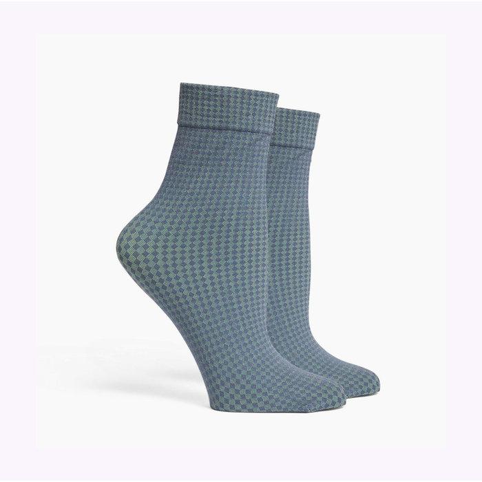 Richer Poorer Green Tea Quilted Socks