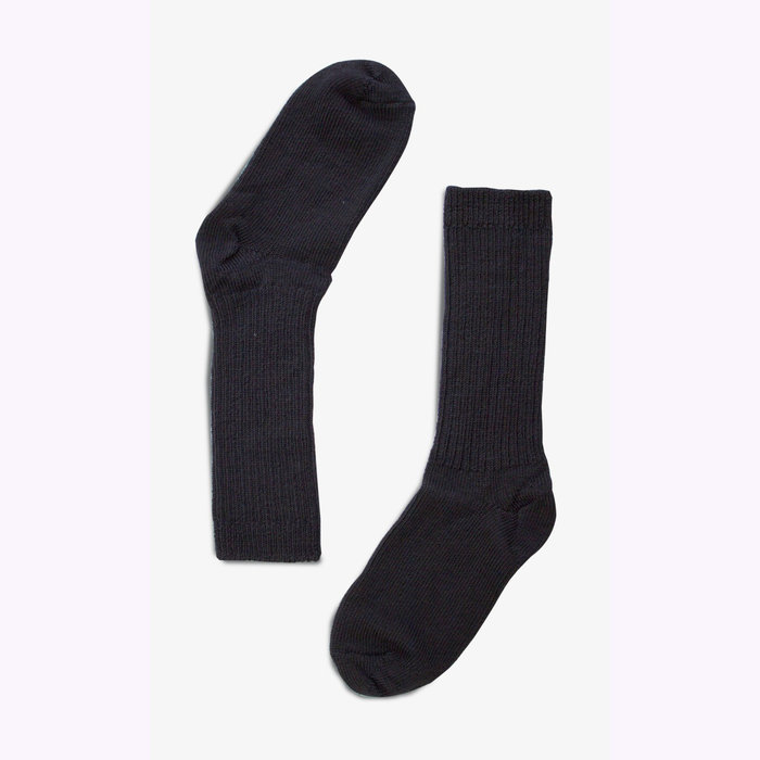Bonnetier Bonnetier Merino Wool Black Socks (10-13)