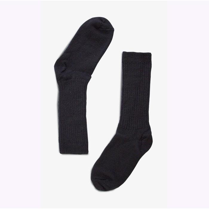 Bonnetier Merino Wool Black Socks (10-13)