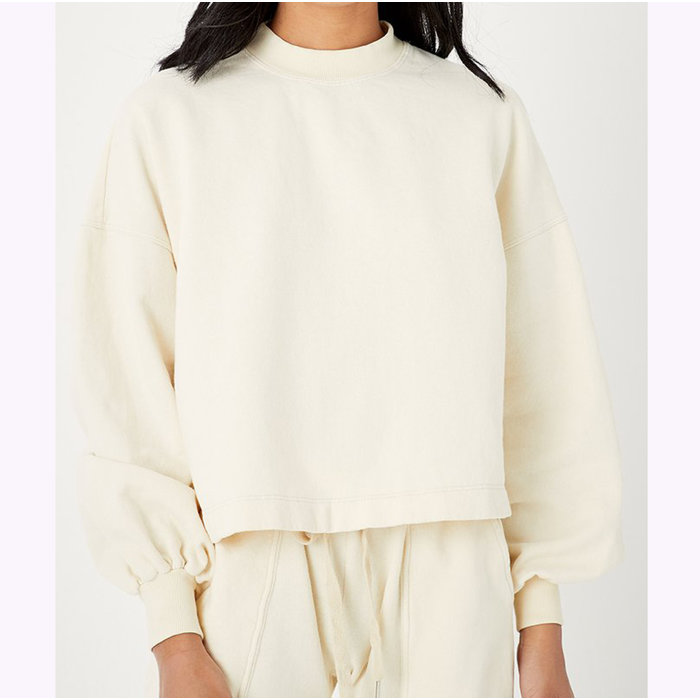 Back Beat co. Recycled Cotton Puffy Sleeves Sweatshirt