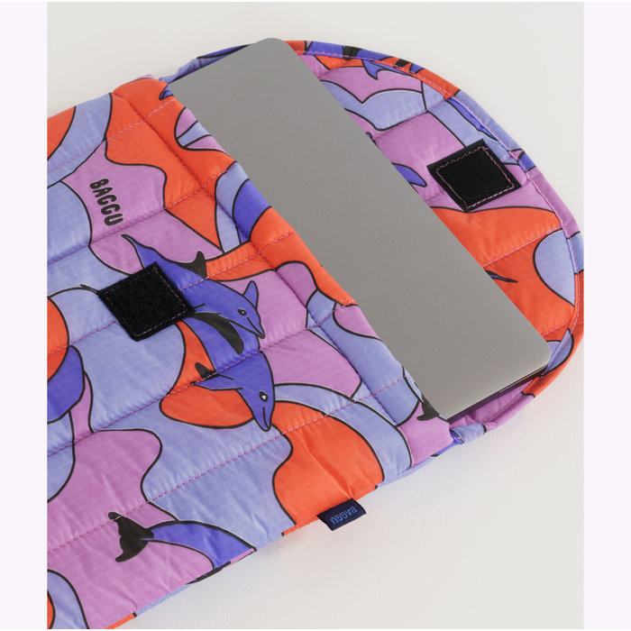 "Baggu Dolphins Puffy Laptop Sleeve 13"""