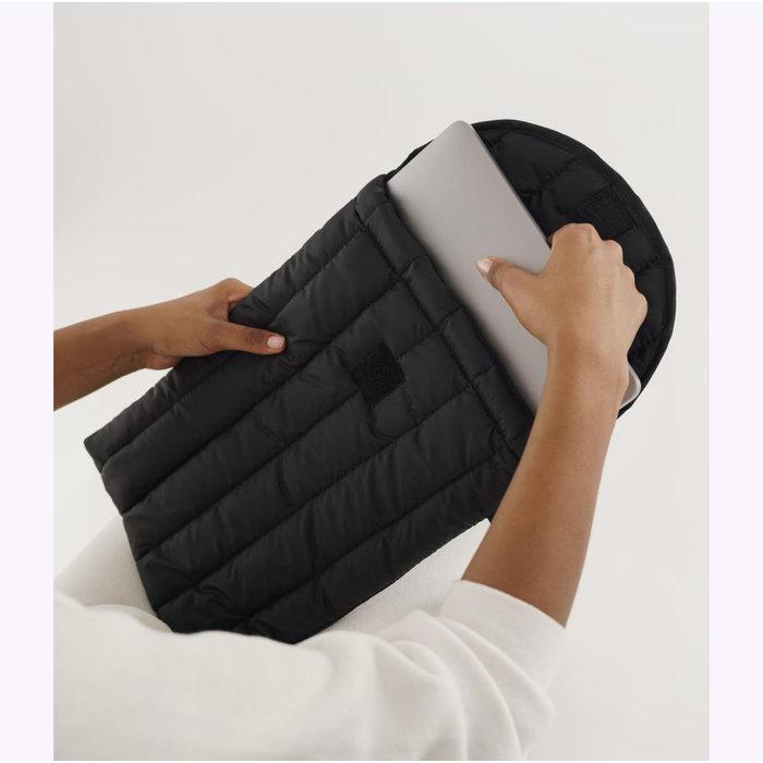 """Baggu Black Puffy Laptop Sleeve 16"""""""