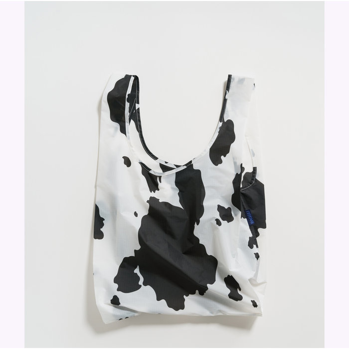 Baggu Black & White Cow Reusable Bag