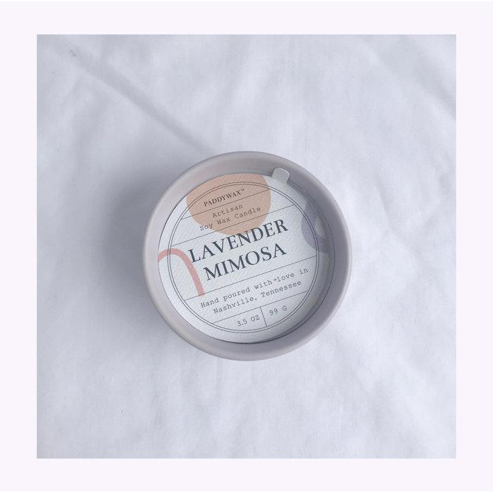 Paddywax Wabi Sabi Lavender Mimosa Candle 3.5oz