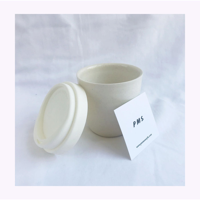 Pas Mon Style Speckles Ivory 8oz Travel Cup
