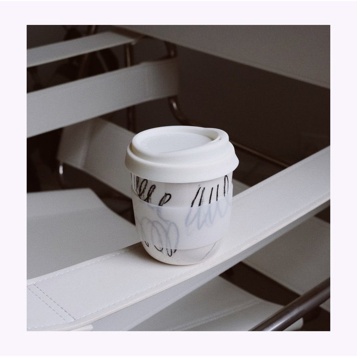 Pas Mon Style Scribble Black 8oz Travel Cup