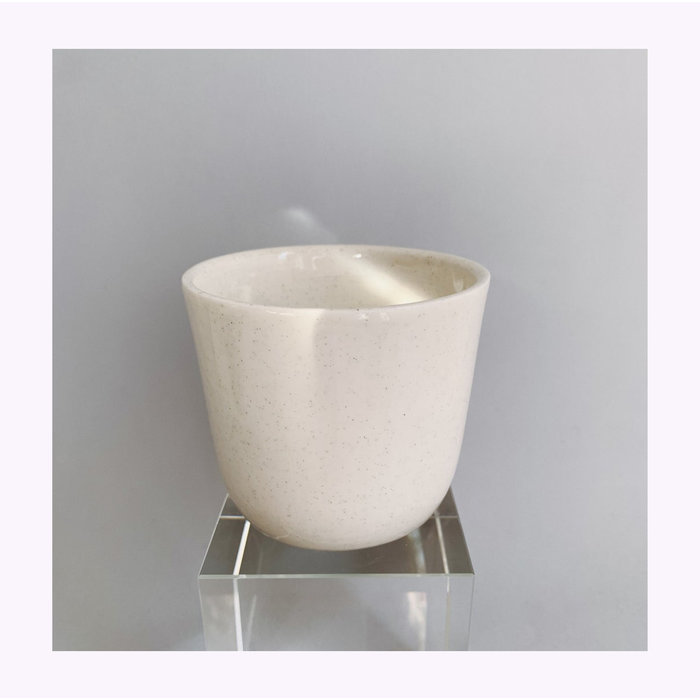 Pas Mon Sand Clear Ivory 12oz Travel Cup
