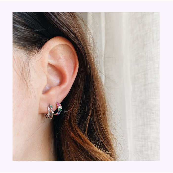 Boucles d'oreilles Summa Argent Horace