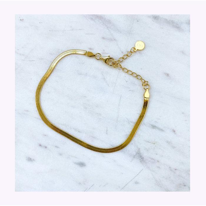 Horace Gold Snake Bracelet