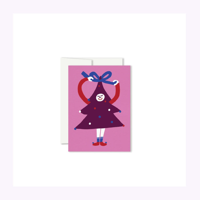 Paperole Paperole Pretty Fir Tree Mini Christmas Card