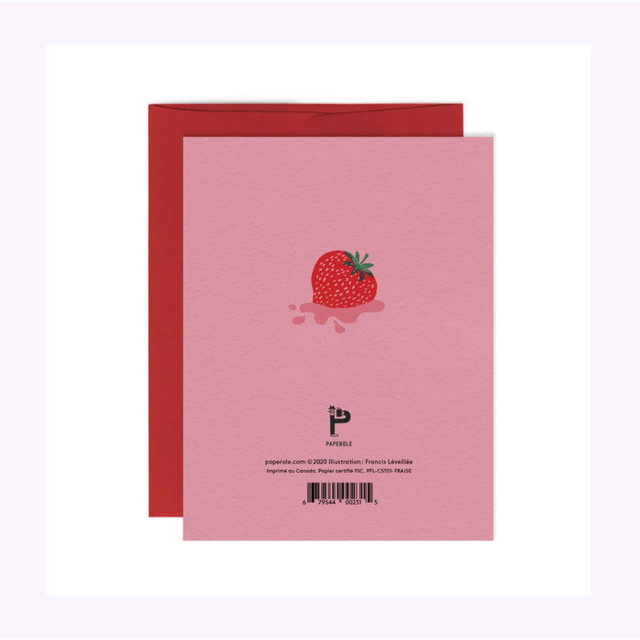 Paperole Strawberry Card