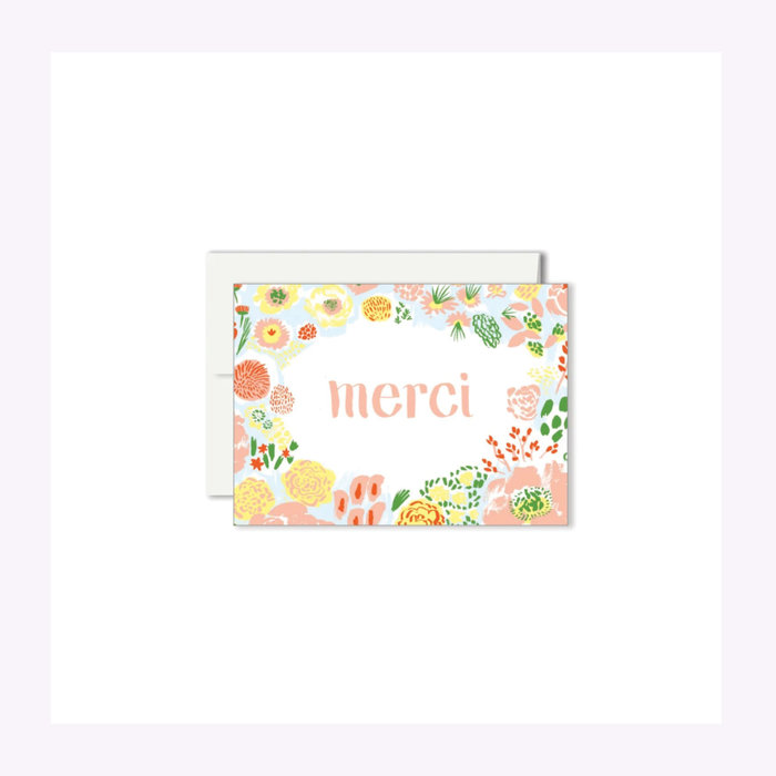 Paperole Paperole Mini Merci Flowers Card