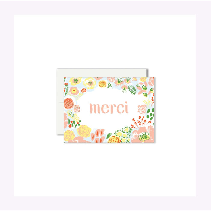 Mini carte Merci Fleurs Paperole