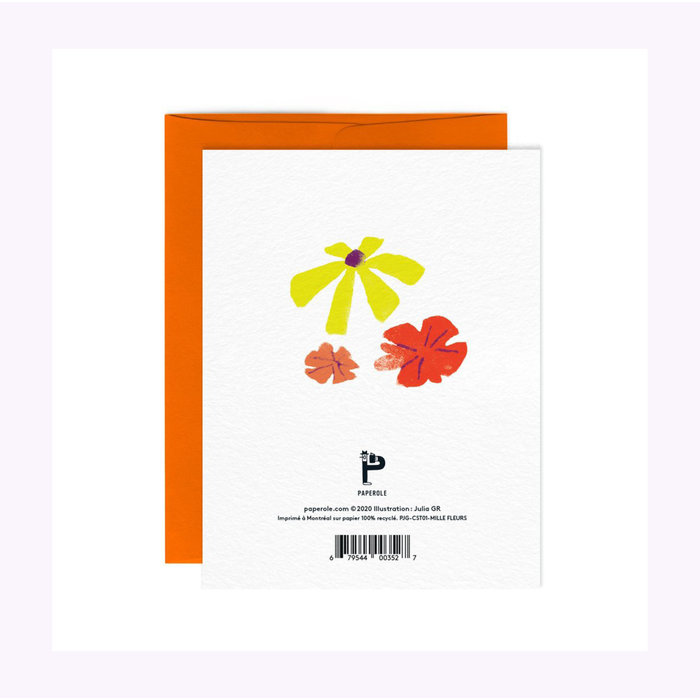 Paperole A Thousand Flowers Card