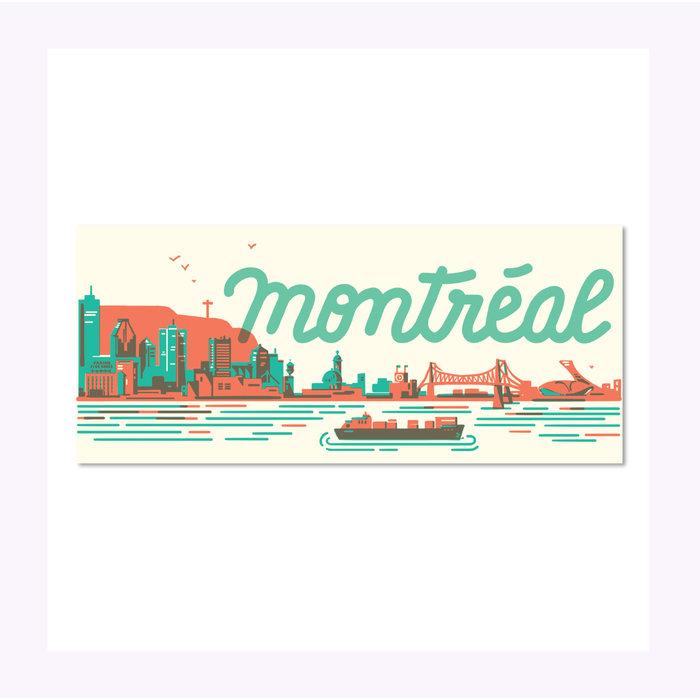 Carte Postale Montréal Skyline Paperole