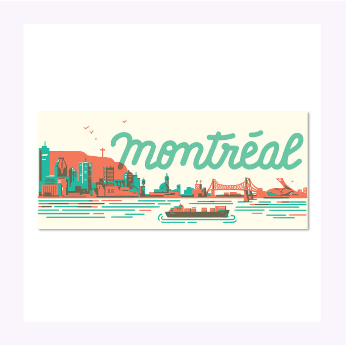 Paperole Montreal Skyline Post Card