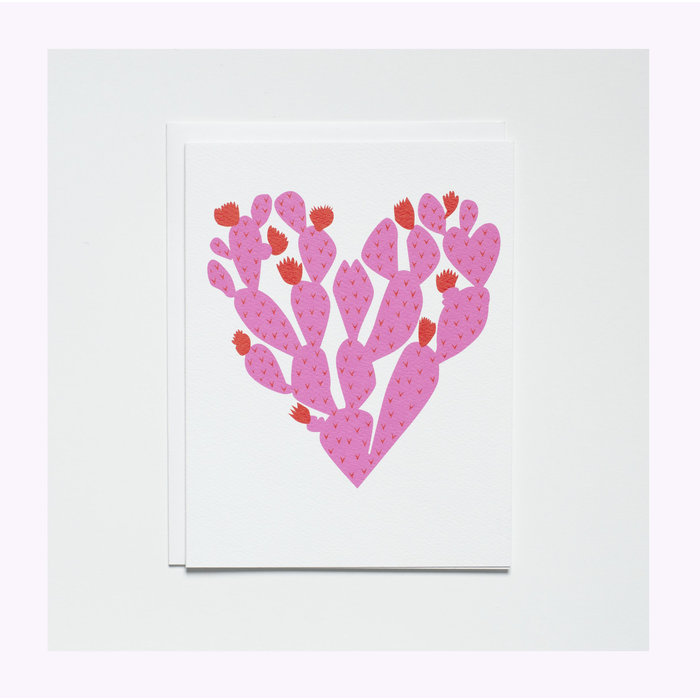 Carte Coeur Cactus Banquet Atelier